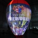 Ballong upplyst